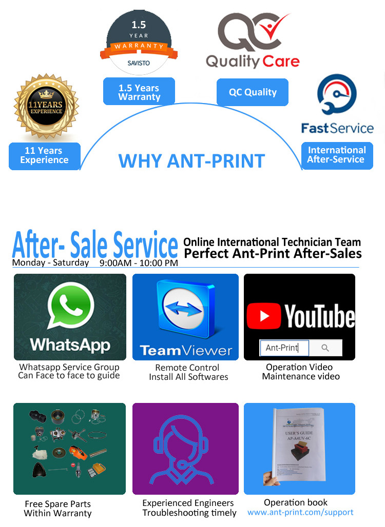 ant-print warranty and after sales service